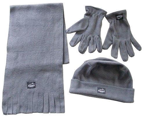 Herren / Damen Winter-Set Schal Mütze Handschuhe für 2,99€