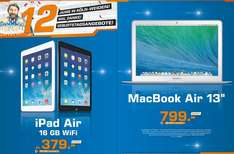 "Apple iPad Air 16GB WiFi,Apple MacBook Air 13"" (MD760D/B) für 799€ Lokal @ Saturn Köln Weiden"