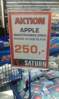 [Lokal] Apple Iphone 4S 8GB - 250€ [Saturn Stuttgart]
