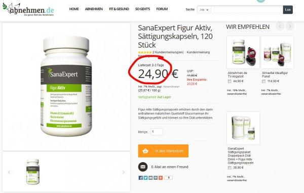 Sanaexpert Figur Aktiv billigster Preis im Netz auf abnehmen.de