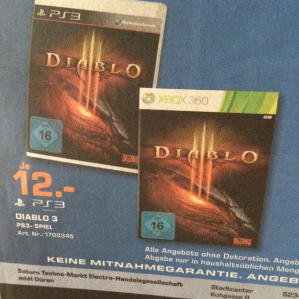 Diablo 3 / PS3 & XBOX / Saturn Düren