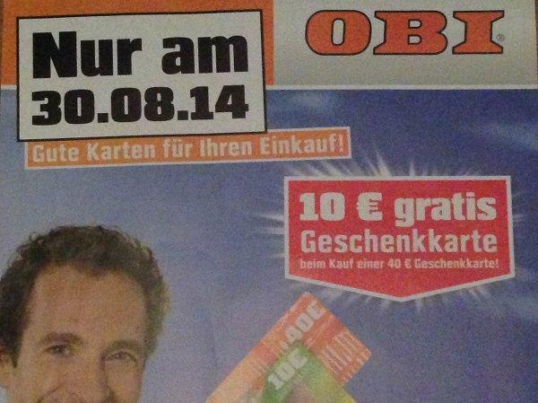 [OBI Köln-Marsdorf] 40€ Gutschein kaufen und 10€ Gutschein gratis dazu