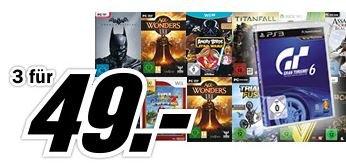 Media Markt online - 3 Spiele für 49€ (ggf. Versand)