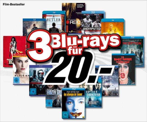Media Markt (auch online): 3 Blu-rays für 20 Euro - diesmal mit wirklich guten Filmen: Machete (Steelbook), The Expendables 2 (Steelbook), beide Hobbit-Teile, ...