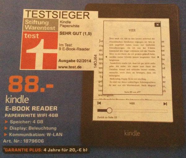 [Lokal] Kindle Paperwhite Wifi 4GB für 88 EUR bei Saturn Trier