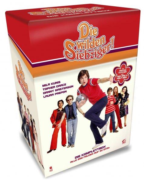 Die wilden Siebziger - Die Komplettbox mit allen 200 Folgen auf 32 DVDs (Cigarette Box mit Episodenguide und Puzzle-Poster aus den Karton-Sleeves) @ Amazon