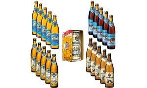 Oktoberfest-Set mit 20 Bierflaschen, 1-Liter-Dose und Masskrug von Paulaner inkl. Versand für 29,95 €
