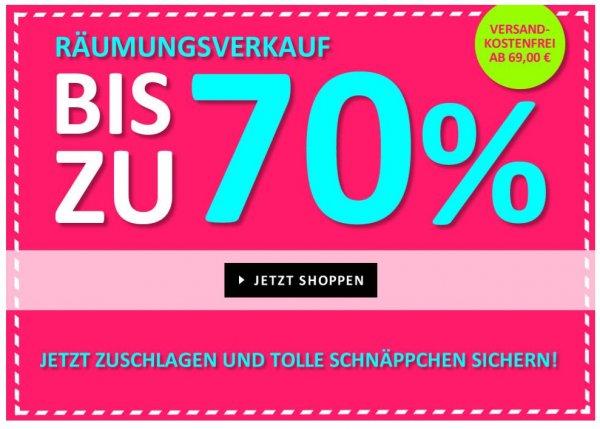 Räumungsverkauf bei mawaju.de bis 70% - ab 69€ ohne Versandkosten