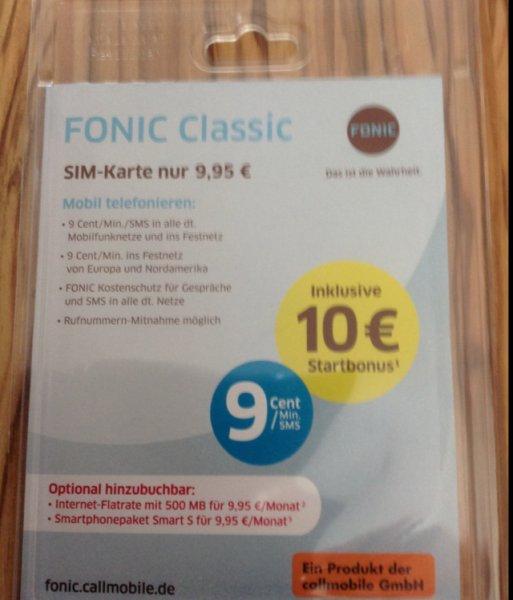 Fonic Prepaid 10€ (15€) Startguthaben + Freundschaftswerbung im Saturn + MM Braunschweig für 3€