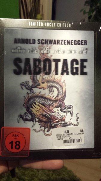 Sabotage Steelbook Blu Ray m. Lenticular Saturn Erlangen