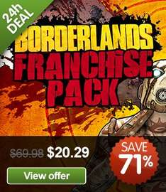 [STEAM] Borderlands Franchise Pack (=1+2 GOTY) über US-VPN @greenmangaming.com
