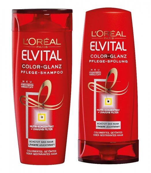[MÜLLER] L'Oreal Elvital Color-Glanz Shampoo/Spülung 250/200ml für 0,89€/Stück (Angebot + Coupon)