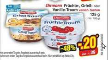 [Netto MD] Ehrmann Traum (Früchte, Grieß, Vanille)