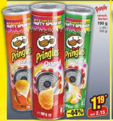 [Netto MD] Pringles 1,19€ (mit Reebate nur 0,69€)