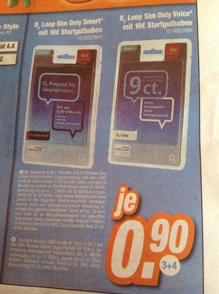 O2 Loop Prepaid Karte mit 10€ Startguthaben bei Expert Klein (evtl. nur Lokal und nicht in allen Märkten)