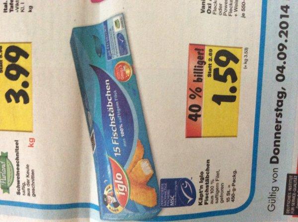 Kaufland 15 Käpt'n Iglo Fischstäbchen 1,59 €