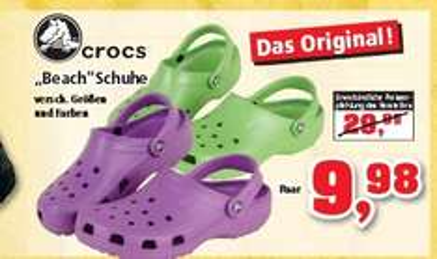 Crocs für 9,98€ @Thomas Philipps