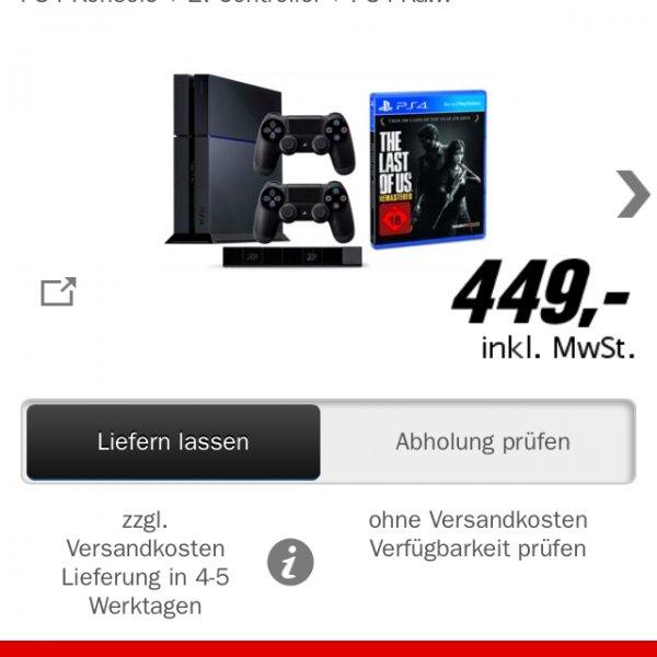 Playstation 4 Bundle inklusive Kamera, 2. Controller und The Last Of Us (Remastered)!!!