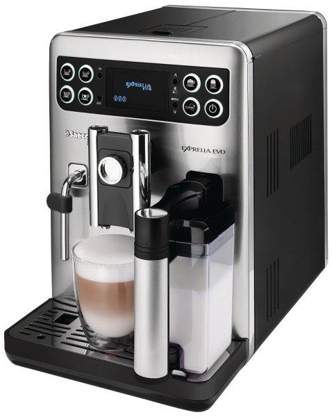 Saeco HD8855/01 Kaffee-Vollautomat Exprelia Evo Class (300g Bohnenbehälter, 15 bar, 1400 Watt, integriertes Milchsystem ) schwarz-silber für 649€ @AmazonBlitz