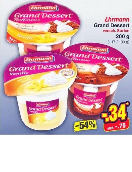 Zum Nachtisch 54% sparen: Grand Desert von Ehrmann bei [Netto MD]