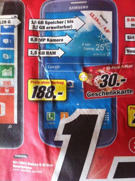 [Lokal im Media Markt Ludwigshafen-Oggersheim] Samsung Galaxy S3 Neo