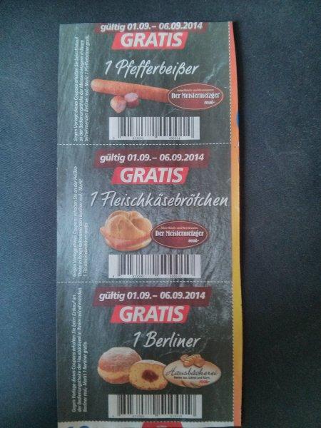 [Lokal] Real Berlin - gratis Pfefferbeißer, Fleischkaese, Pfannkuchen