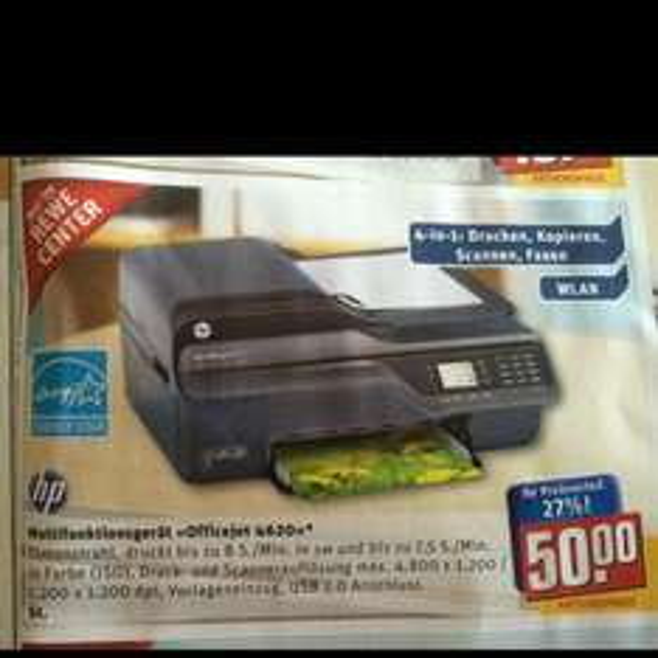 Multifunktionsgerät HP Officejet 4620 50Euro (Rewe/Toom Niederzier)