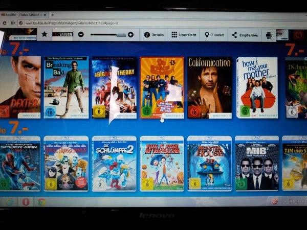 DVD Boxen (Dexter, Californication,...) & 3D Blu-rays für je 7,00 Euro bei Saturn Erlangen