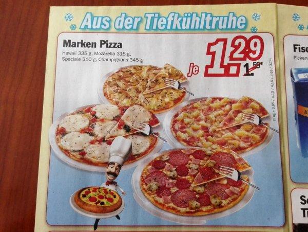 Ristorante? Pizza bei Zimmermann für 1,29€