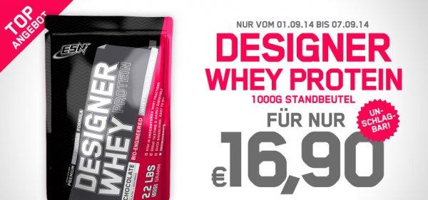ESN Designer Whey nur 20,80,- € (16,90,-€ + 3,90,-€ Versand)