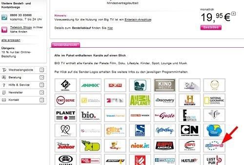 Big TV für Telekom Entertain 1 Monat kostenlos anstatt 19,95 Euro