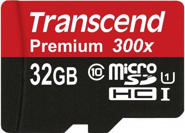 MicroSDHC Class 10 UHS-1 Transcend Premium mit 32GB für 12,99€ @Amazon (Prime)