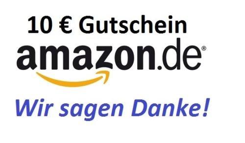 AMAZON GUTSCHEIN 8,99 € für 10 € Guthaben