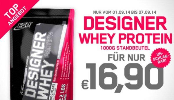 ESN Designer Whey 1kg 16,90€ plus 3,9€ VSK