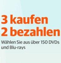 [Thalia/Buch.de] 3 kaufen 2 bezahlen - Wahl aus über 150 Blu-Rays und DVDs