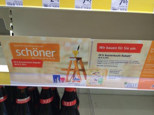 [Lokal Siegburg] DM: 20% auf alles ab 8.9.2014