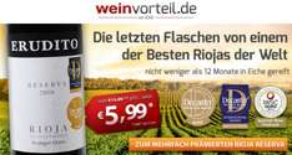 6 x Bodegas Olarra - Erudito - Rioja Reserva DOC für 27,44 EUR @Weinvorteil