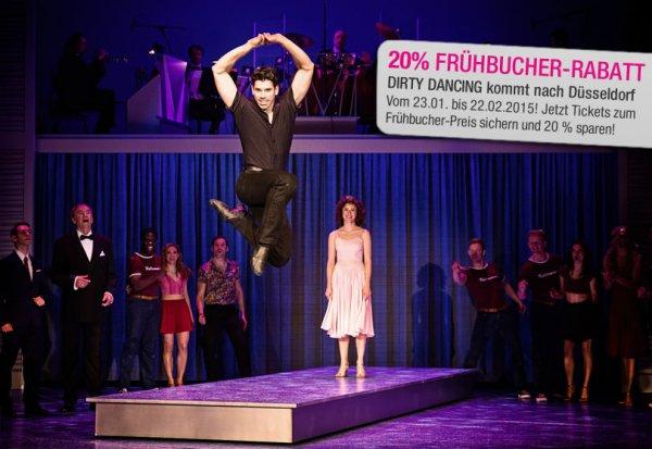 20 % Frühbucher-Rabatt für DIRTY DANCING – DAS ORIGINAL LIVE ON TOUR in Düsseldorf