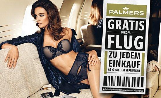 Palmers GRATIS EUROPA FLUG Zu jedem Einkauf ab 100€ im September