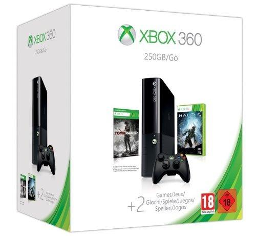 Xbox 360 250 GB + Halo 4 + Tomb Raider für 158,21€ inkl. Versand@Amazon.fr