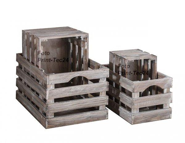 4 Holzkisten - Deko Landhauskisten bei print-tec24 44,90 mit Rakuten Gutschein