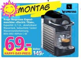 [Lokal Münster, nur am 8.9.] Krups Nespresso Pixie XN 3005 Electric Titan für 69€ (Idealo: 89,95€)