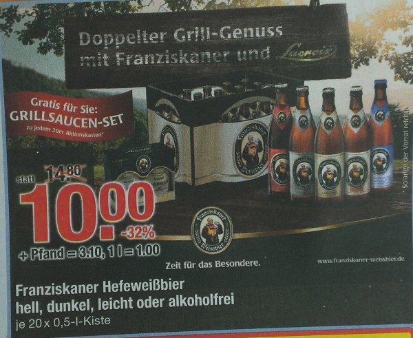 (lokal Südbayern) Franziskaner für 10€ inkl. zwei Grillsoßen