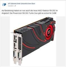 [LOKAL] AMD Radeon R9 285 Tonga (Powercolor Turbo Duo OC Edition) 249€ Gelsenkirchen Buer