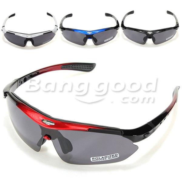 Polarisierte Sportbrille/Fahrradbrille + Wechselgläser und Zubehör