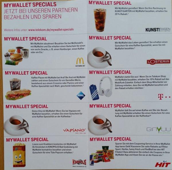 Köln/Bonn: MyWallet Specials: z.B. kostenlosen Hamburger bei McDonalds oder Genießer Menü bei Aral