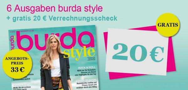 6 Ausgaben burda style für 13€ (2,17€/Ausgabe sonst 5,50€ 60%Ersparnis)