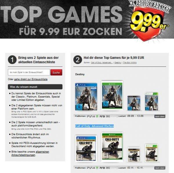 Gamestop 9,99 Aktion mit Destiny und Call of Duty: Advanced Warfare