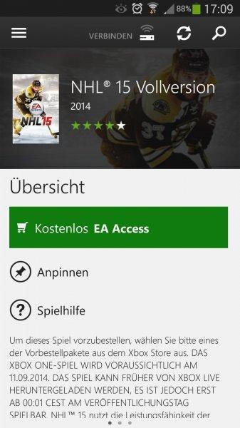 NHL 15 EA access