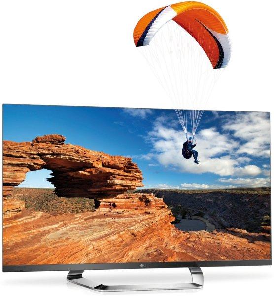 [WHD] LG 55LM760S 140 cm (55 Zoll) Cinema 3D LED-Backlight Fernseher, EEK A+ (Full-HD, 800Hz MCI, DVB-T/C/S2, InternetTV) / Zustand sehr gut